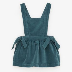 Zara Girls Blue Pinafore Dress